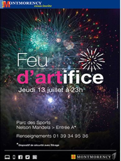 Feu d'artifice à Montmorency - 13 juillet 2017