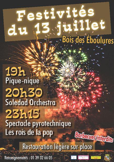 FEU D'ARTIFICE à FRANCONVILLE - 13 JUILLET 2017