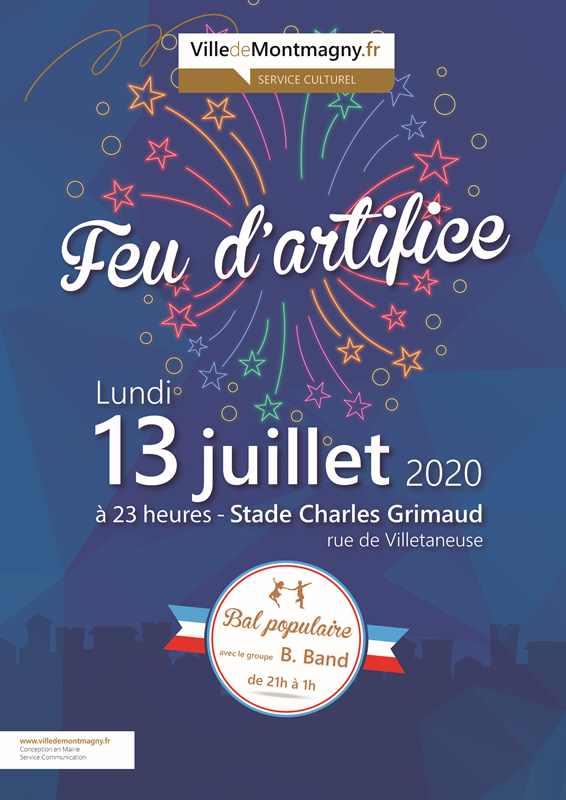 Feu artifice Montmagny 2020