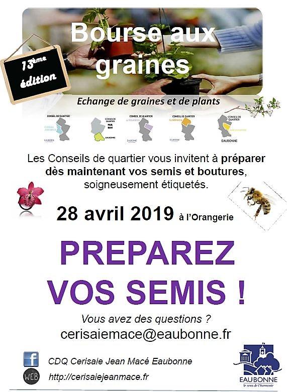 Bourse aux graines - Eaubonne le 28 avril 2019