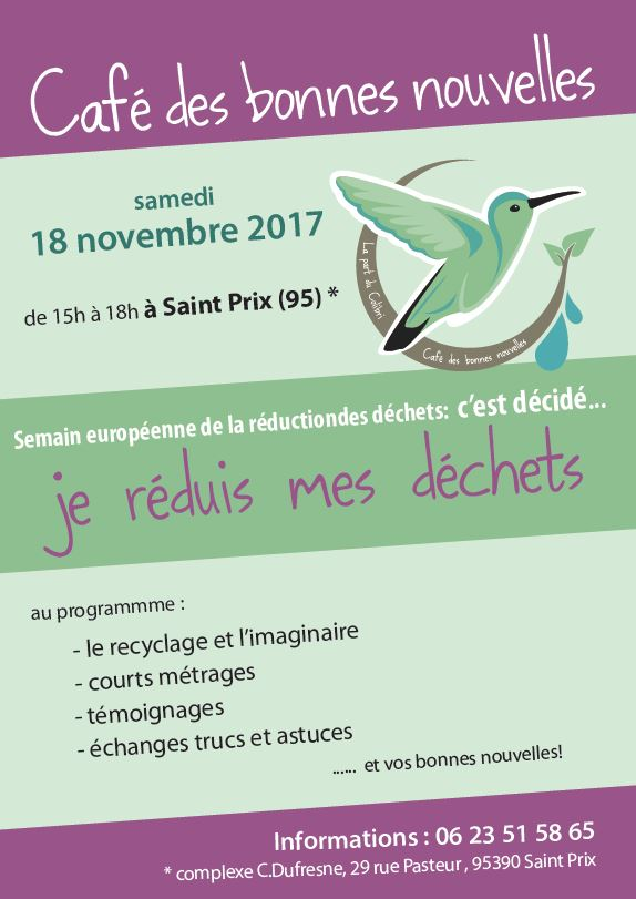Café des Bonnes Nouvelles 18 novembre 2017