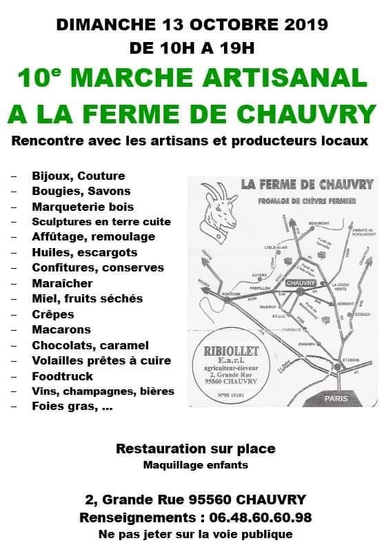 marché artisanal à la Ferme de Chauvry