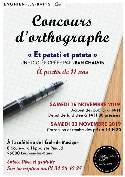 Concours d'orthographue - enghien - 16 novembre 2019