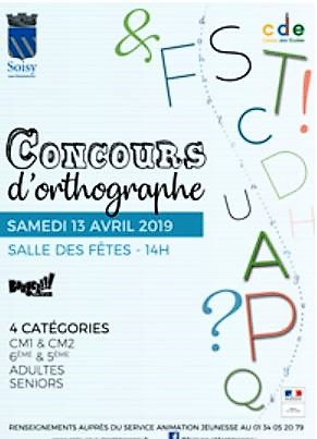 Concours d\'orthographe à Soisy-sous-Montmorency - 13 avril 2019