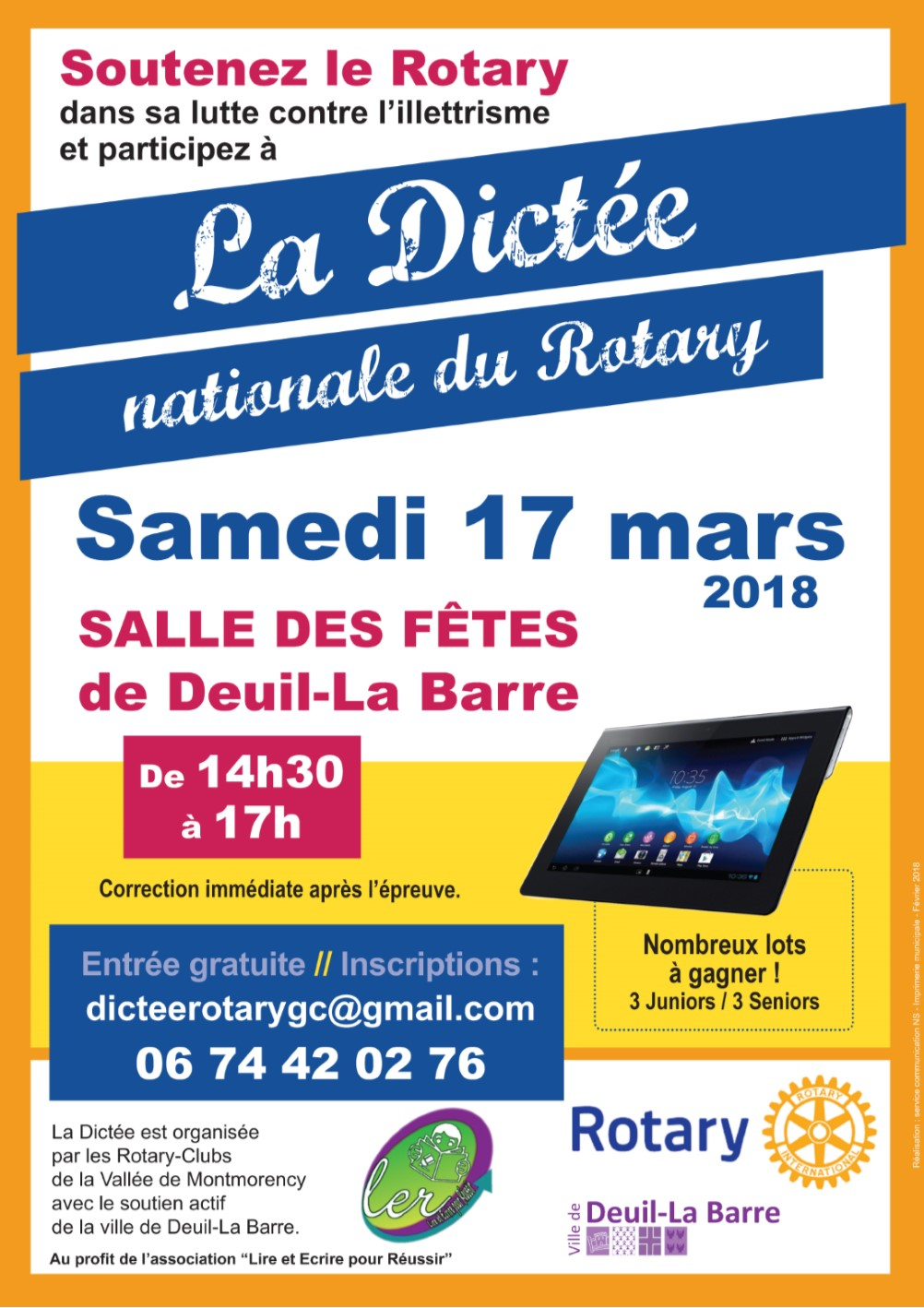Dictée nationale du rotary 17 mars 2018