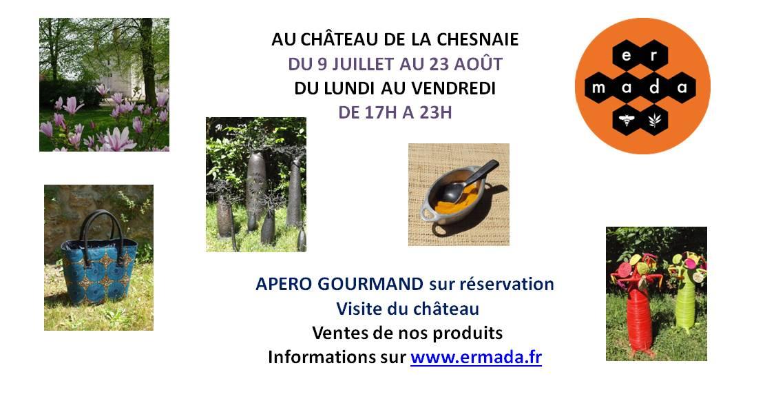 Aperitif gourmand au Château de la Chesnaie