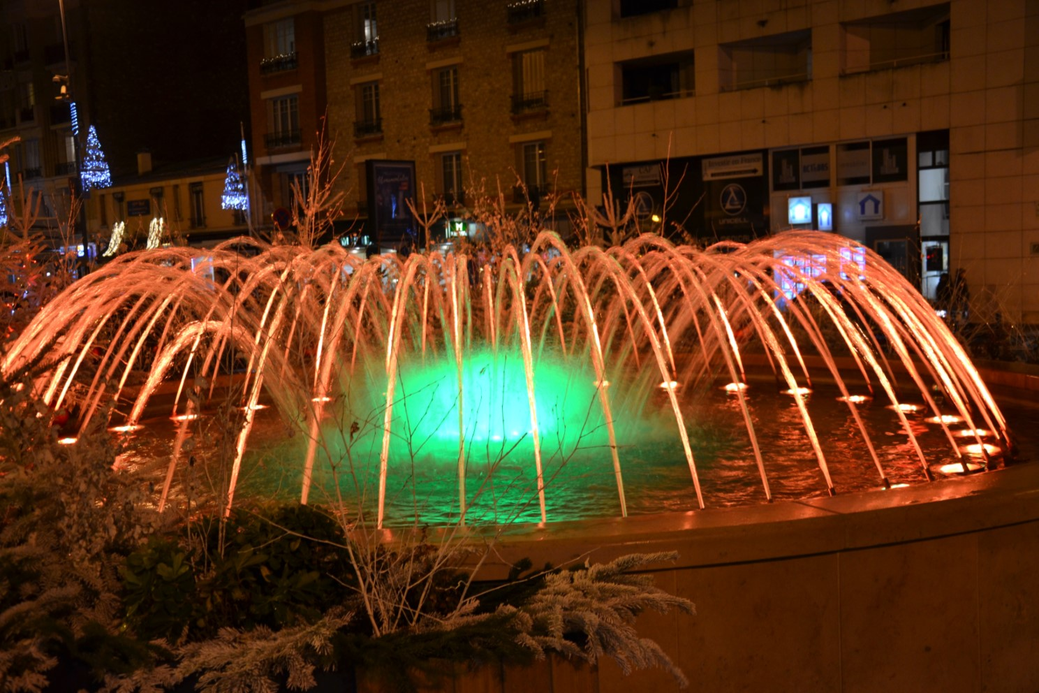Décembre 2018 - Jets d'eau illuminés à Enghien