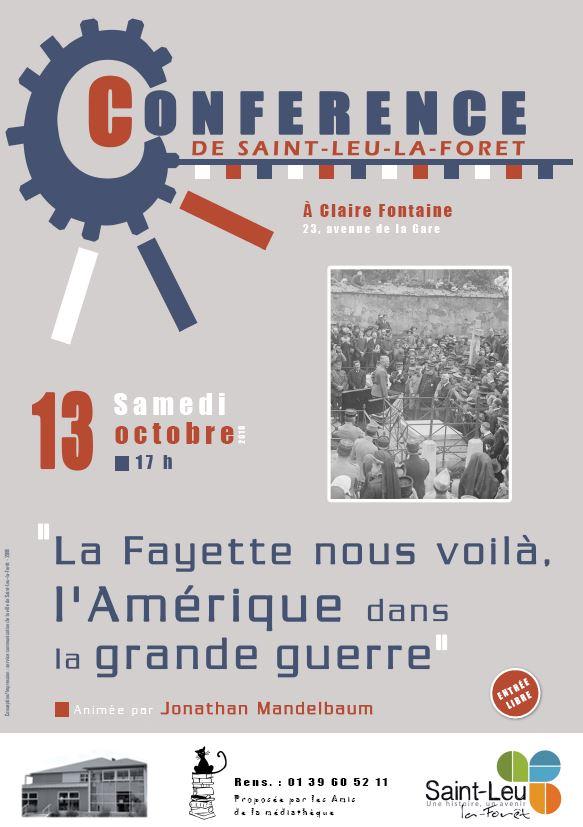 Conférence à Saint-Leu le 13 octobre 2018