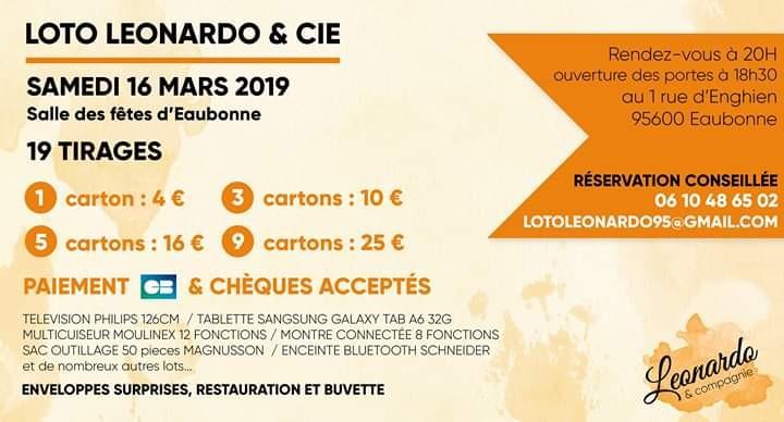 Loto de Léonard et Cie - 16 mars 2019 à Eaubonne