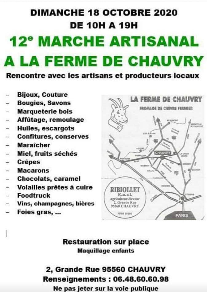 Marché artisanal Ferme de Chauvry 2020