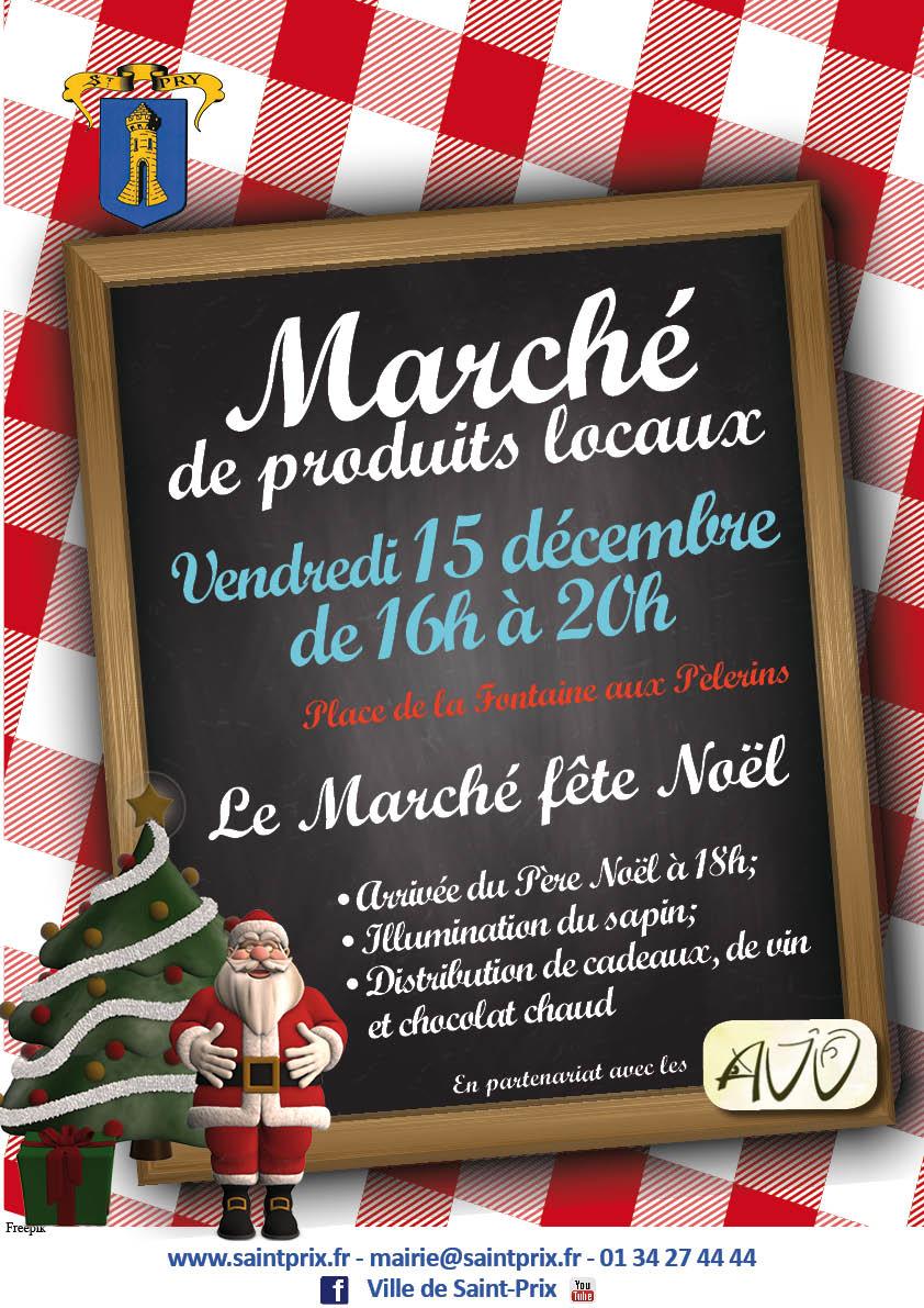 Marché local 15 décembre 2017 Saint-Prix