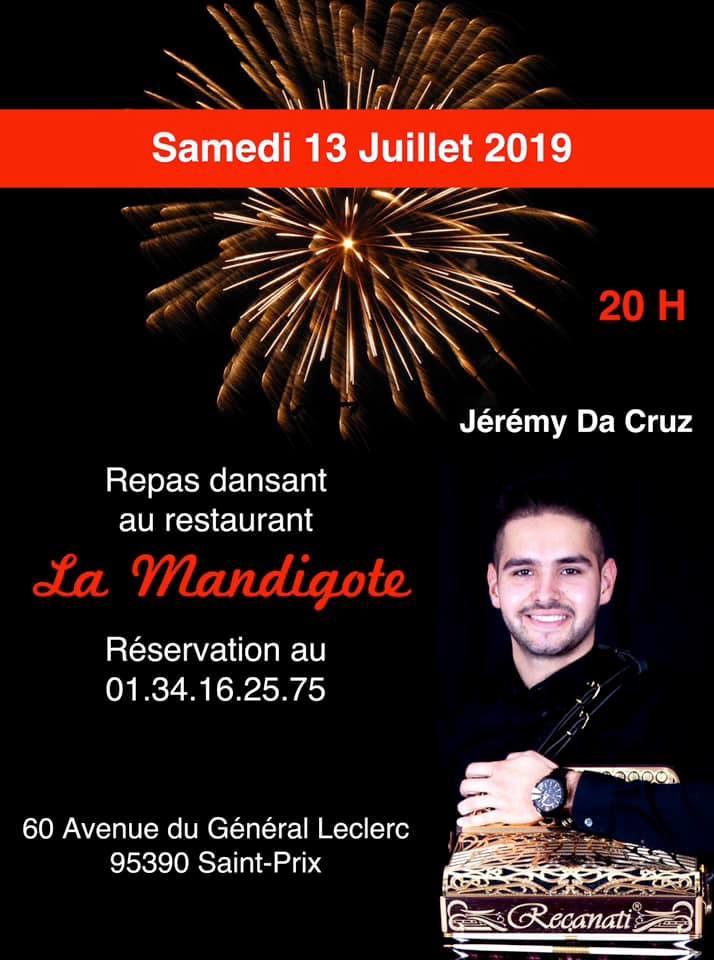 Repas dansant au restaurant La Mendigote Saint-Prix