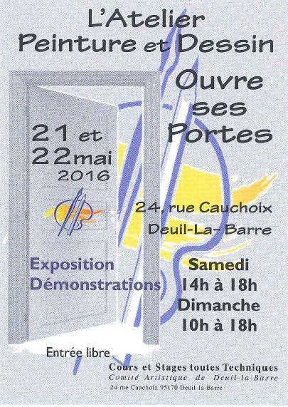 Portes ouvertes de l 39 atelier peinture et dessin deuil la - Atelier chardon savard portes ouvertes ...