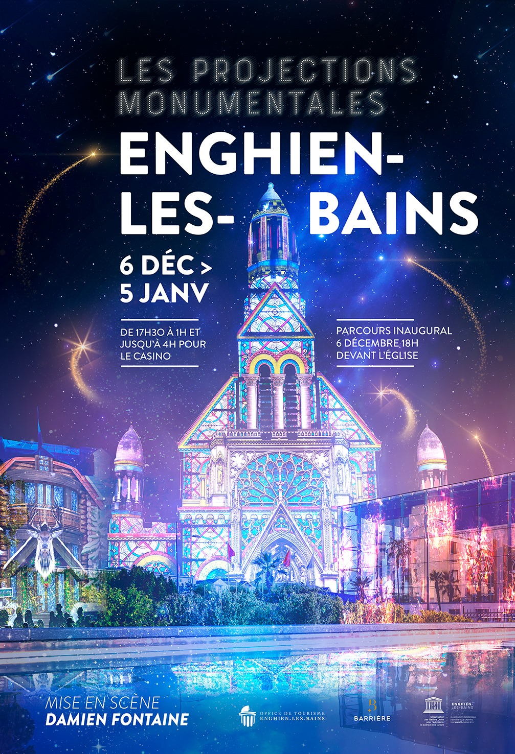 Projections monumentales Enghien 2019
