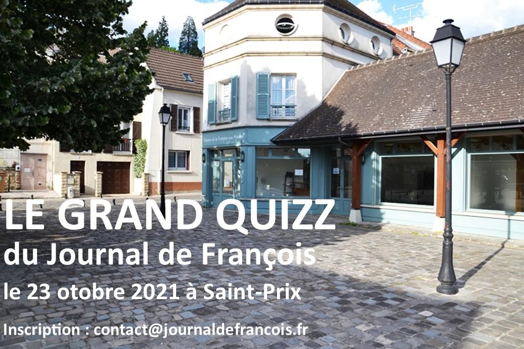 Quizz du Journal de François - 23 octobre 2021