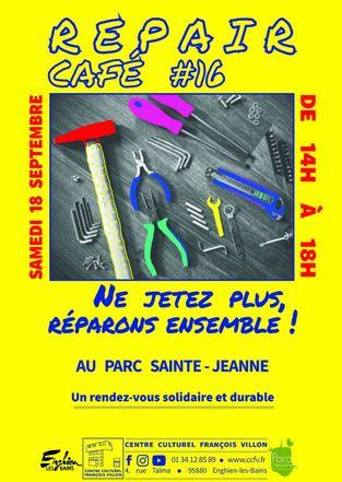 Repair café à Enghien le 18 septembre 2021