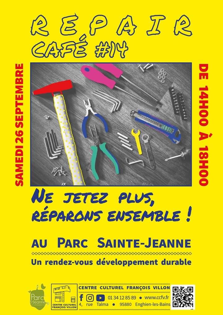 Repair Café à Enghien 26 septembre 2020