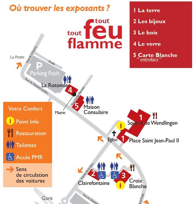 Plan sites de TOUT FEU TOUT FLAMME 2019