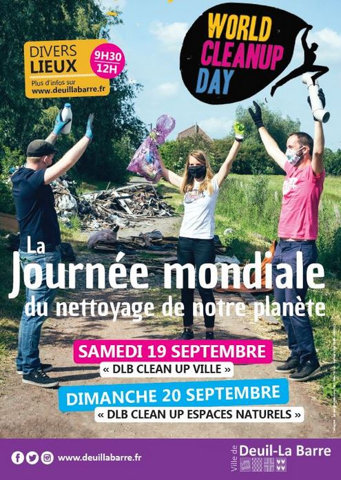 World Clean Up Day Deuil-la-Barre 2020