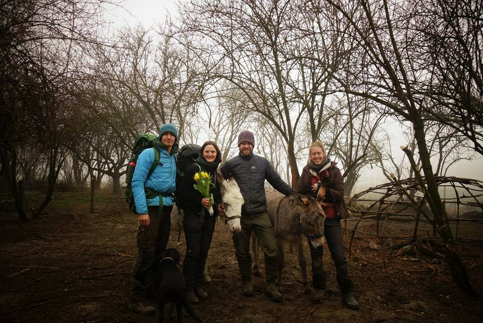 Vincent, Amélie, Luc et Tanja en Autriche