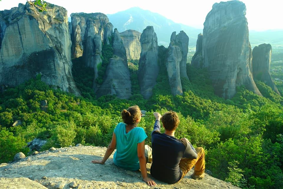 Grèce - Coucher de soleil sur les Météores
