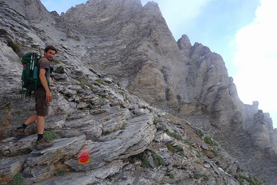 Grèce - Mont Mytikas, les derniers mètres