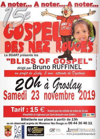 Gospel des Nez Rouges le 23 novembre 2019