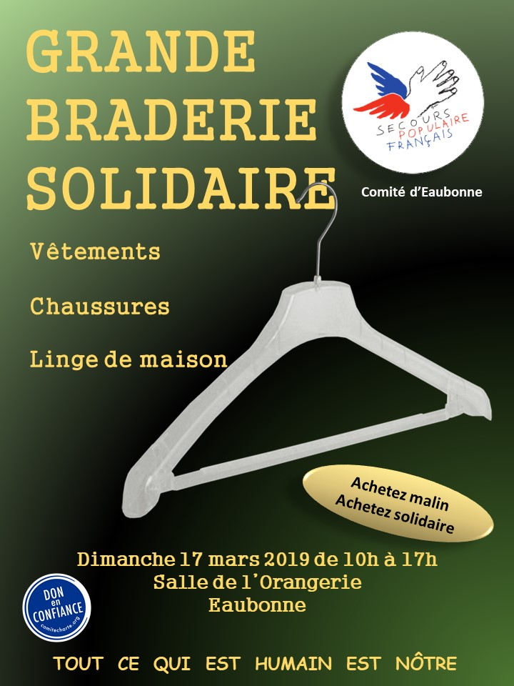 Grande braderie solidaire - Eaubonne le 17 mars 2019