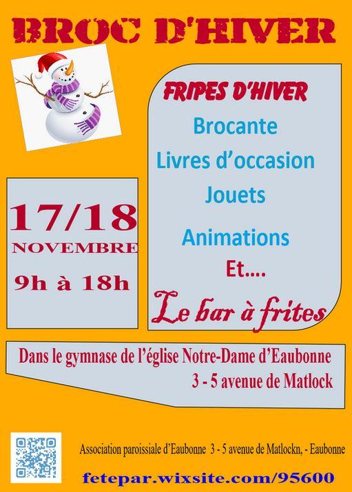 BROC D'HIVER à EAUBONNE 17 et 18 novembre 2018