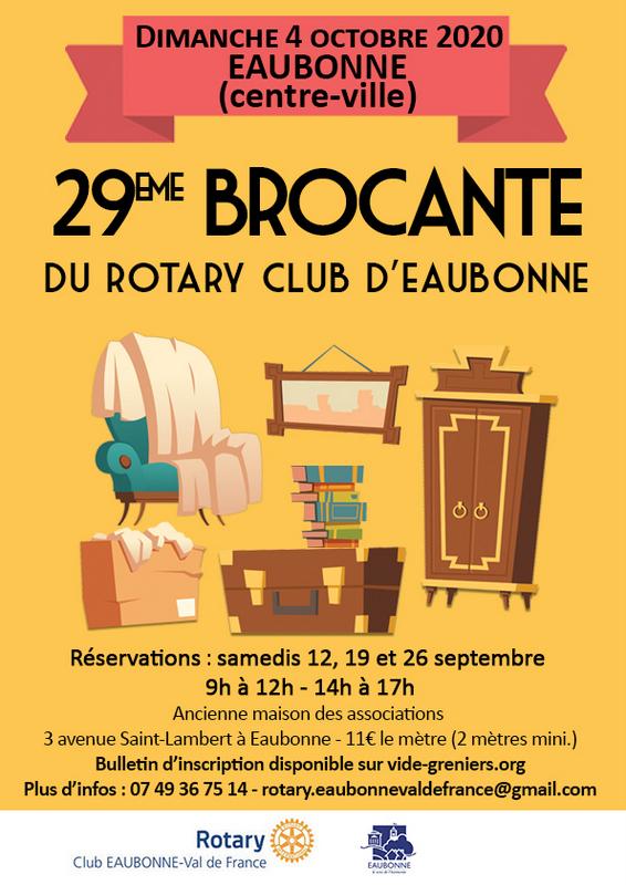 Brocante à Eaubonne le 4 octobre 2020