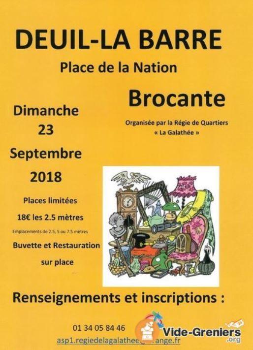 Brocante à Deuil-la-Barre le 23 septembre 2018
