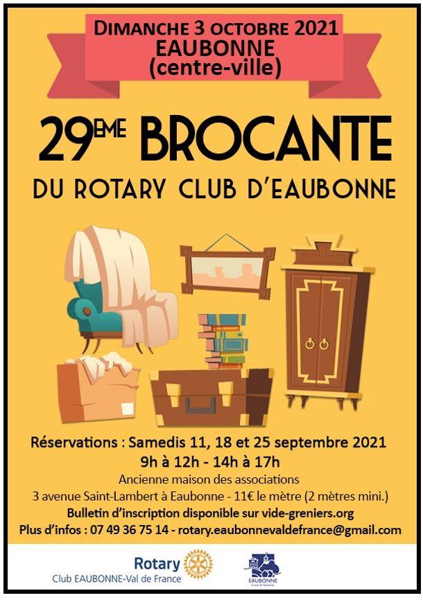 Brocante à Eaubonne le 3 octobre 2021