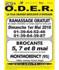 Brocante O.D.E.R. à Montmorency pendant le week-end de l'Ascension!