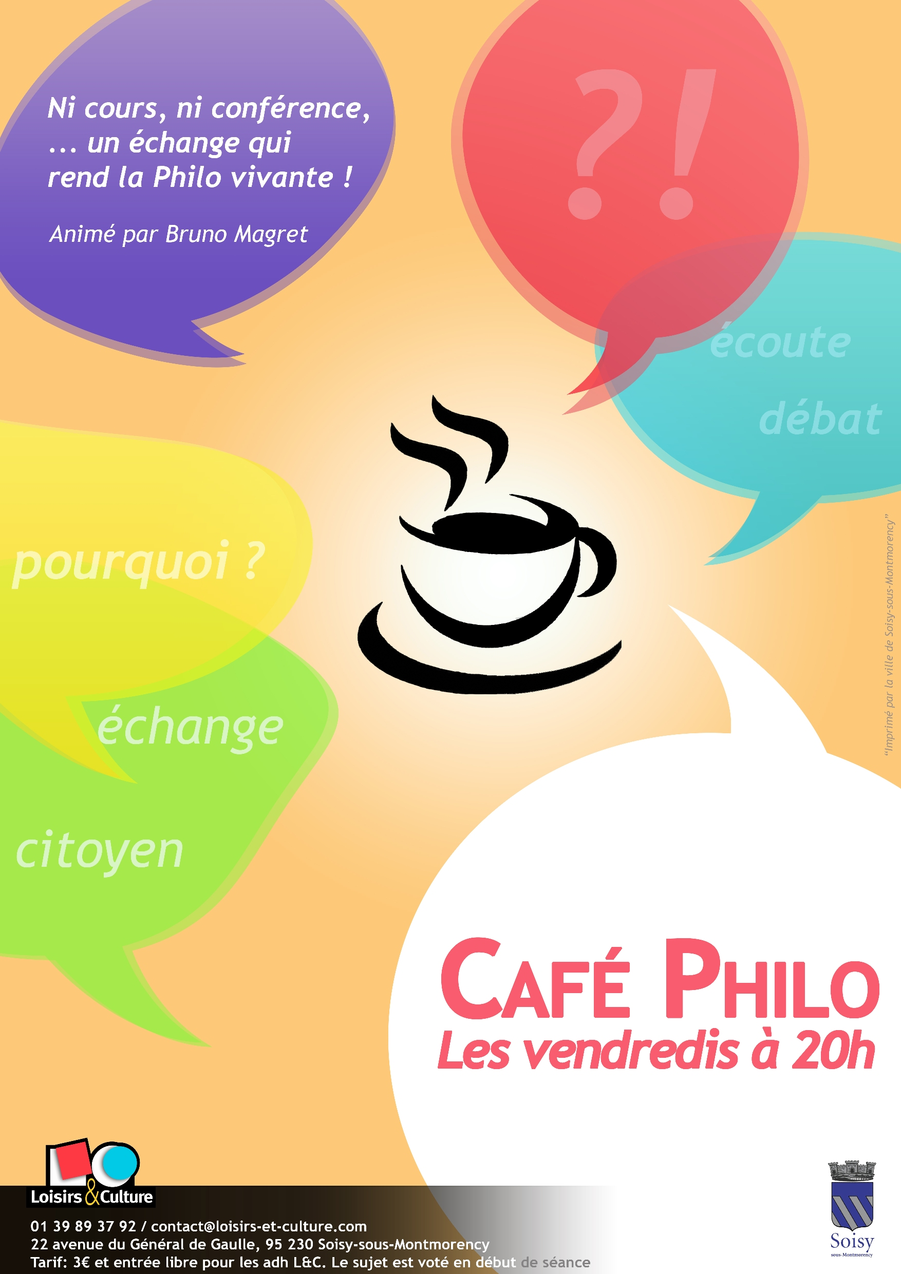 CAFE PHILO à SOISY