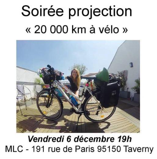 Projection à Taverny : 20000 km à vélo