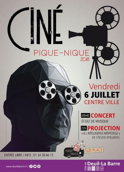 Ciné pique nique à Deuil-la-Barre le 6 juillet 2018