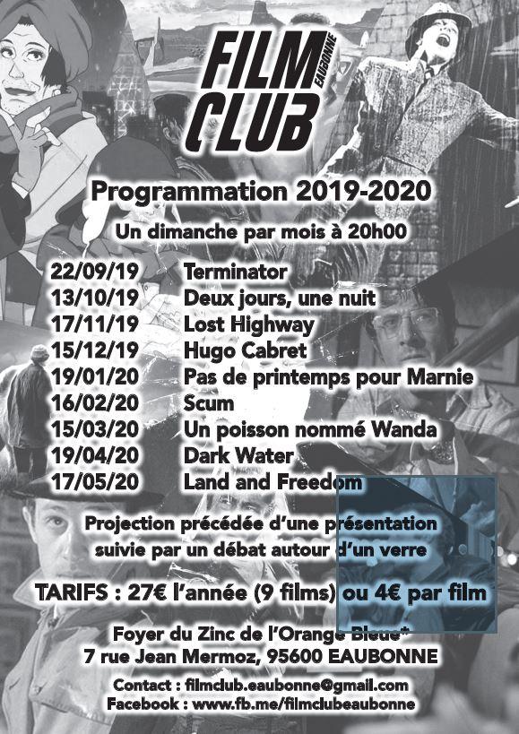 Programme 2019-2020 du Film Club d'Eaubonne