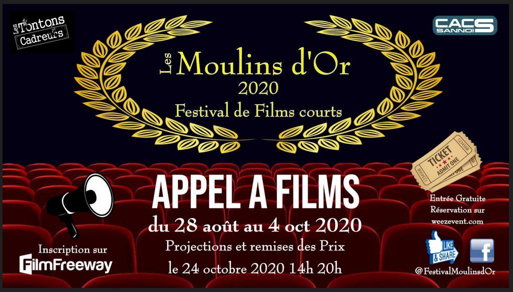 Les Moulins d'Or 2020 - appel à films