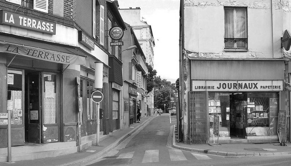 Restaurant La terrasse - rue des Callais avant la rénovation du quartier (photo d'Eric Darvoy)