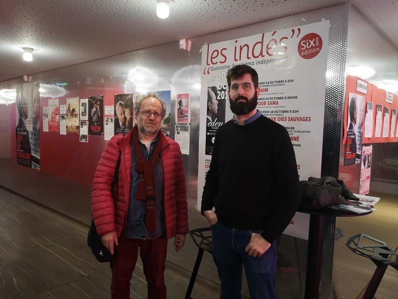Michel Enten (à gauche) en compagnie d'Antoine Russbach en 2019 lors du festival des indés