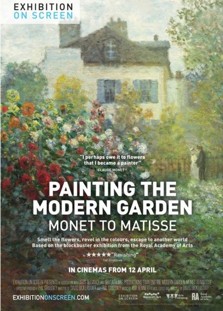 Cin ma projection de peindre le jardin moderne de monet for Le jardin montmorency