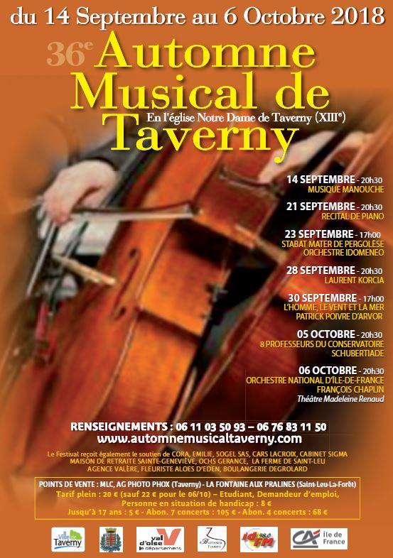 Automne Musical de Taverny - 2018