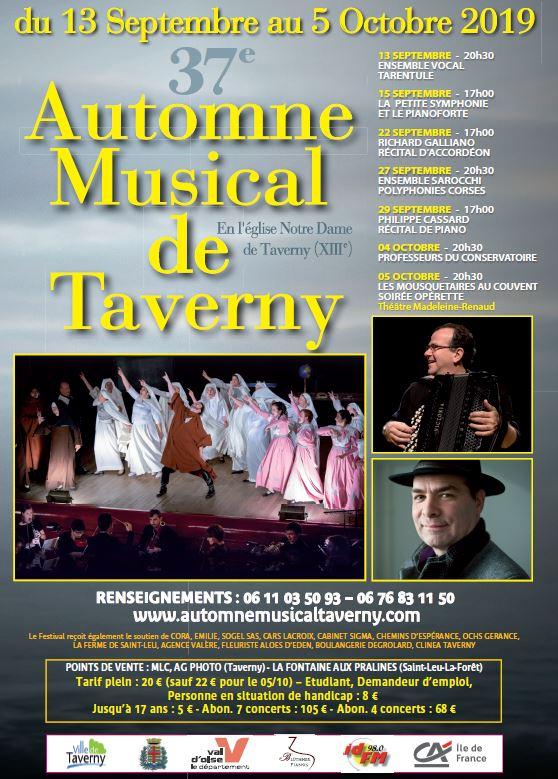 Automne Musical de Taverny 2019