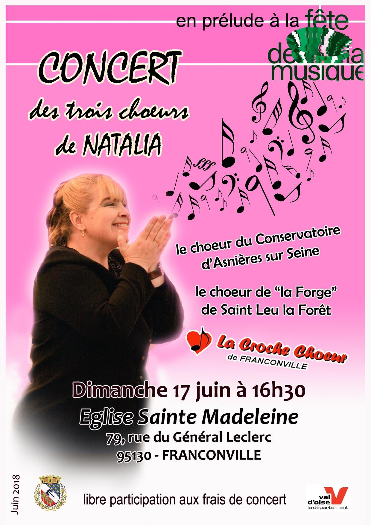 Concert 3 choeurs de Natalia