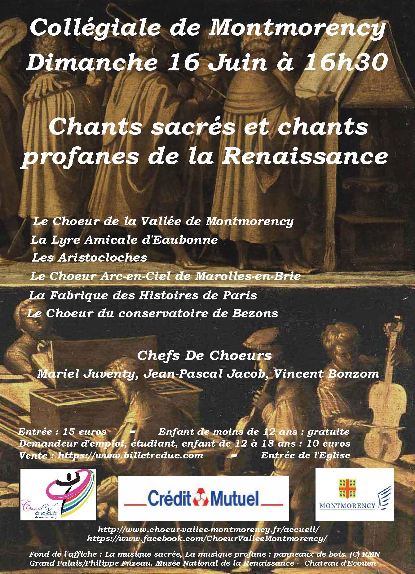 Chants sacrés - Collégiale de Montmorency