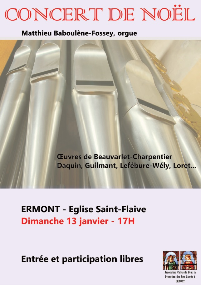 Concert de Noël à Ermont le 13 janvier 2019