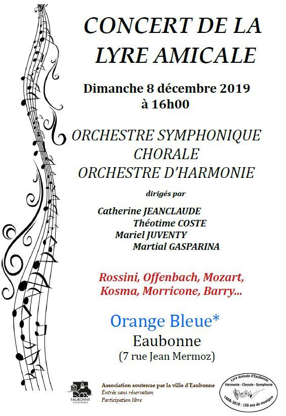 Concert de la Lyre amicale le 8 décembre 2019