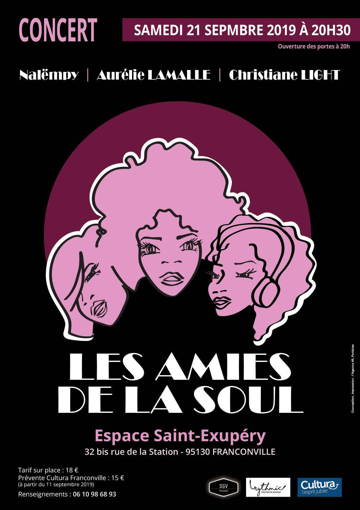 LES AMIES DE LA SOUL en concert à Franconville