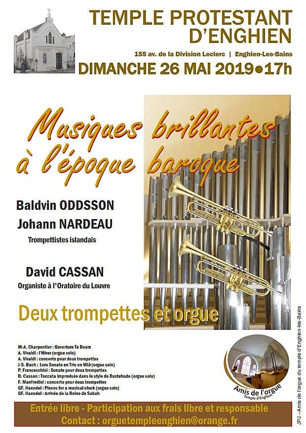 Concert des Amis de l'Orgue - Enghien - 26 mai 2019