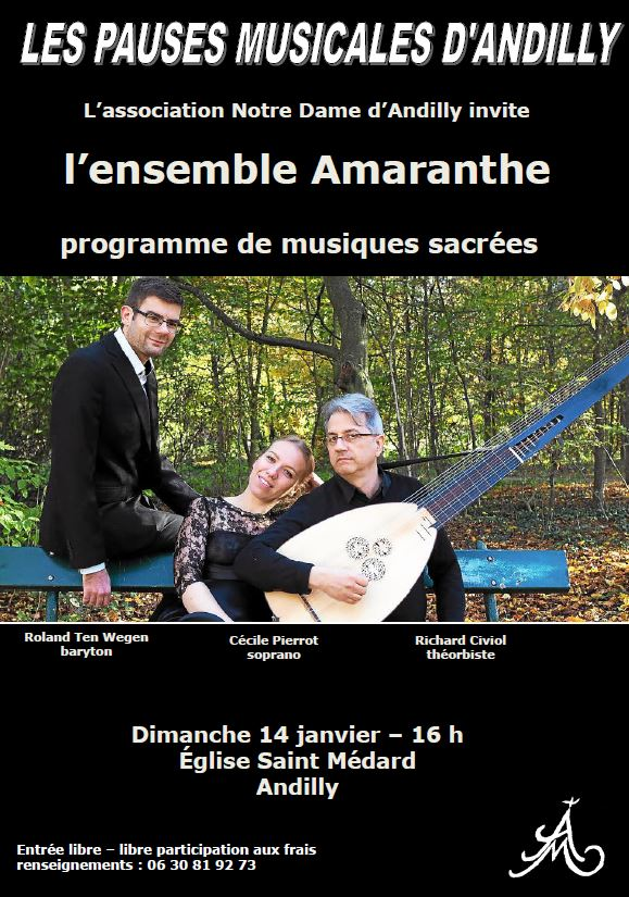 PAUSES MUSICALES D'ANDILLY - 14 janvier 2017